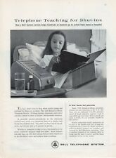 1962 Bell Telephone Portable Speaker Microphone PRINT AD