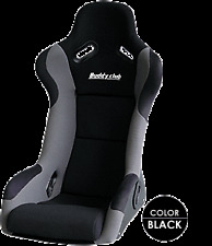 BUDDY CLUB FIXED RACING BUCKET SEAT LARGE BLACK RACE RALLY TRACK DAY Y0728