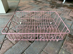 Large VTG Rubbermaid Mauve Rose Coated Wire Dish Drainer Drying Rack