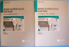 Lot of 2 Piano Songbooks Recueil De Pieces Faciles 2e Cycle Volume 1-2 Salabert