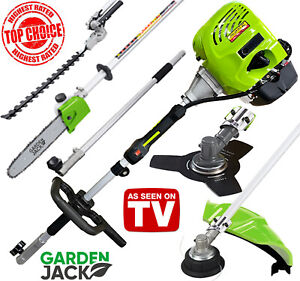 Petrol Garden Multi Tool Strimmer Brushcutter Hedge Trimmer Chainsaw 5 in 1