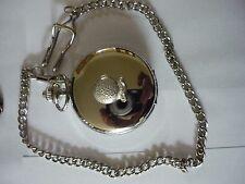 Misty Crystal Ball Fortune Teller tg1 Pewter on a Silver Pocket Watch Quartz fob