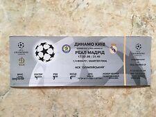 TICKET CHAMPIONS DYNAMO KIEV UKRAINE - FC REAL MADRID ESPAÑA SPAIN 1999 QUARTER