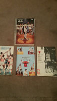 Lot 4 Chicago Bulls NBA Basketball Media Guides 1970 1972 1974 1990 Jordan Love
