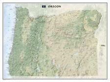National Geographic Oregon State Laminated Wall Map