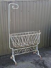 ANTIQUE VICTORIAN IRON BABY SWINGING CRIB COT PROJECT, SHOP DISPLAY THEATRE PROP