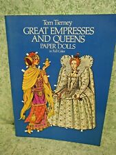 "rm-451 Paper dolls: ""Great Empresses & Queens"" in full color; mint; by Tierney"