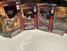 Transformers Kingdom Lot Blackarachnia Dinobot Scorponok Vertebreak WFC Predacon