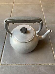 Vintage Aluminium Sona Wear School Camping Hob Fire Aga Kettle Teapot