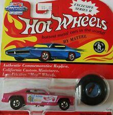 TOM MONGOOSE MCEWEN FUNNY CAR 1/64 HOT WHEELS VINTAGE EXCLUSIVE SERIES II PINK