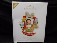 "Hallmark Keepsake ""Baby's First Christmas"" 2012 Photo Holder Ornament NEW"