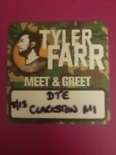 New listing Tyler Farr Vip Meet and Greet Pass 2017 Tour w/ Brantley Gilbert Luke Combs New