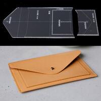 2 Stück Acryl Klar Muster Schablone Vorlage DIY Leder Handwerk Set für