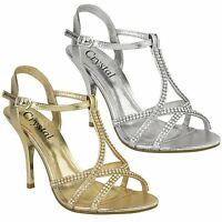 Womens Ladies Stiletto High Heels Strappy Party Prom Bridal Sandals Shoes Size