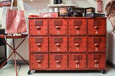 Mobile Credenza Vintage Cassettiera Ferro ruote 12 Cassetti ferro Urban Indus...