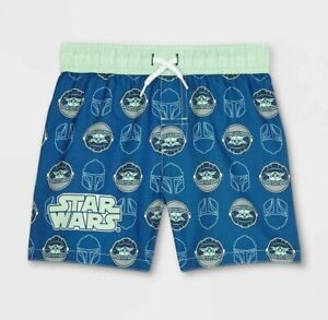 Baby Yoda Swim Trunks Swimsuit Shorts Star Wars Mandalorian Boy Toddler 3T 4T 5T