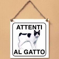 Bobtail giapponese 1 Attenti al gatto Targa gatto cartello ceramic tiles