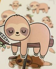 Sloth Stickers laminated stickers laptop stickers book stickers