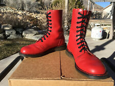 1980s Vintage Dr. Martens Tredair Red 10-eye Boots US 8 eva doc shoes 1490 1460