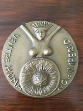 Very Beautiful and rare antique bronze medal of human womb of the Empire 1983
