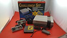 Challenge Set Nintendo NES System [w/ 2 Controllers, Box, Game & All Cables]
