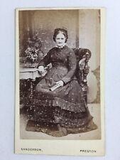 Victorian Carte De Visite CDV: Lady: Sanderson: Preston