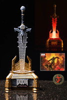 Doom Eternal Crucible Blade Light Up Sword Statue + Pin + Art Print Bethesda