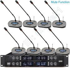 MICWL Digital Wireless 8 Gooseneck Microphone System 400CH - Mute Function 3828