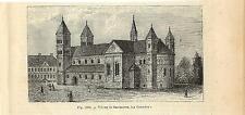 Stampa antica VIBORG cattedrale Danimarca Denmark 1889 Antique antik print
