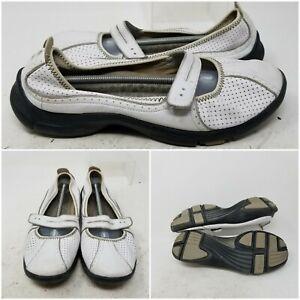 Privo by Clarks White Slip On Closed Toe Mary Jane Walking Shoe Women Size 9.5 M