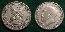 1925 SILVER 6 PENCE GREAT BRITAIN**NICE DETAILS**