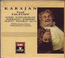 VERDI - Falstaff KARAJAN GOBBI SCHWARZKOPF BOX 2 CD 1988 USATO OTTIME CONDIZIONI