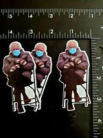 "3-Pack Bernie Sanders Meme Photo Vinyl Sticker 3.25"" x 1.5"" Funny Mittens 2021"