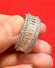 Men's 14K Gold Finish BAGUETTE ETERNITY Ring