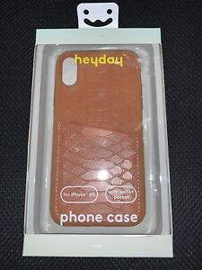 Heyday For iPhone XR Tan Brown Crocodile Phone Case With Wallet Pocket NEW