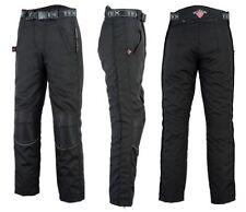 Pantaloni neri in tessuto Cordura per motociclista