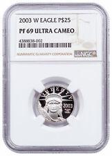 2003 W 1/4 oz Platinum American Eagle Proof $25 Ngc Pf69 Uc Sku16533