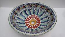 "17"" TALAVERA SINK drop in mexican bathroom sink handmade ceramic mexico folk art"