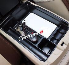 Black Interior Armrest Storage Box Holder for Nissan Rogue X-Trail 2014-2016