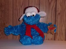 """17"""" Sesame Street Cookie Monster in Aviator with Red Scarf Plush by Gund"""