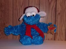 "17"" Sesame Street Cookie Monster in Aviator with Red Scarf Plush by Gund"