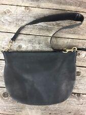 Authentic Vintage Gucci Suede Leather Black Shoulder Bag Purse Hobo