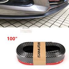 100 Universal Caron Fiber Front Bumper Lip Splitter Spoiler Skirt Protector Fits Toyota Yaris