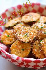 "☆Zucchini Parmesan Crisps ""RECIPE""!☆Crisp and Perfect Snacking/Appetizer!☆"