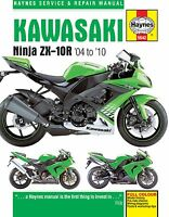 2004-2010 Kawasaki Ninja ZX10 ZX10R HAYNES SERVICE & REPAIR MANUAL 5542