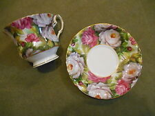 Porcelain Treasures Hand Decorated Betty Platner Cup Saucer Chintz Like Floral