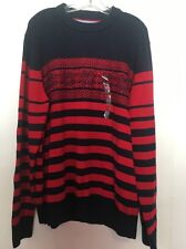 NEW MEN TOMMY HILFIGER CHRISTMAS SWEATER SIZE 2XL COTTON/NYLON/WOOL MIX ORIG $98