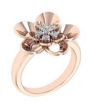 G 0.35 Carat 14K Rose Gold 18.60Mm Right Hand Wedding Ring Natural Diamond Si1