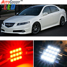 11 x Premium Red LED Lights Interior Package Kit for Acura TL 2004-2008