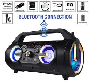 Boytone BT-16G Portable Bluetooth Speaker Boombox, Indoor/Outdoor 2.1 Hi-Fi